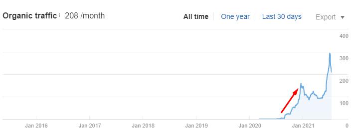 Рост органического трафика по SEO в поисковой системе Google на 150% за 5 месяцев - кейс iPapus Agency