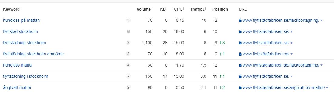 Рост органического трафика по SEO в поисковой системе Google на 300% за 7 месяцев - Стокгольм (Швеция) - кейс iPapus Agency