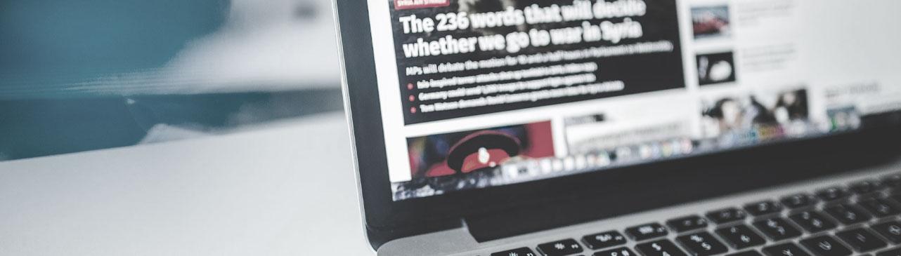 Дизайн новостного сайта